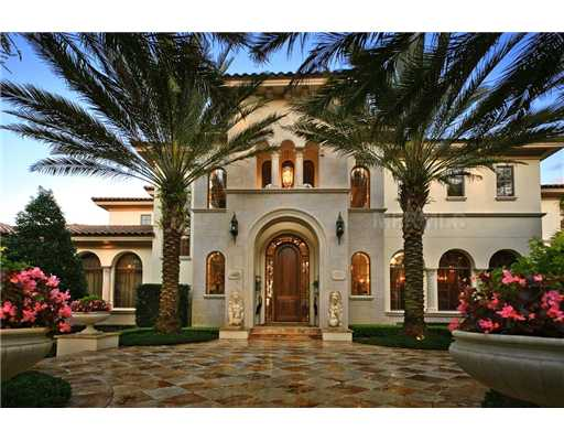 The bellagio a mediterranean style estate in windermere for Florida mediterranean style homes