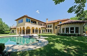 Tuscan style mansion in dallas tx by bella custom homes for Castle style homes for sale