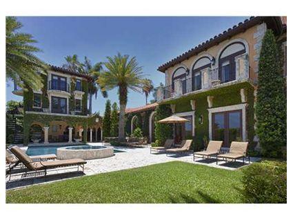 Ivy-Covered Mediterranean Waterfront Home In Miami Beach, FL