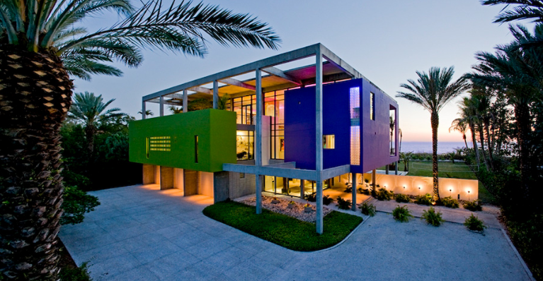 Colorful Contemporary Beach House In Sarasota Fl Homes