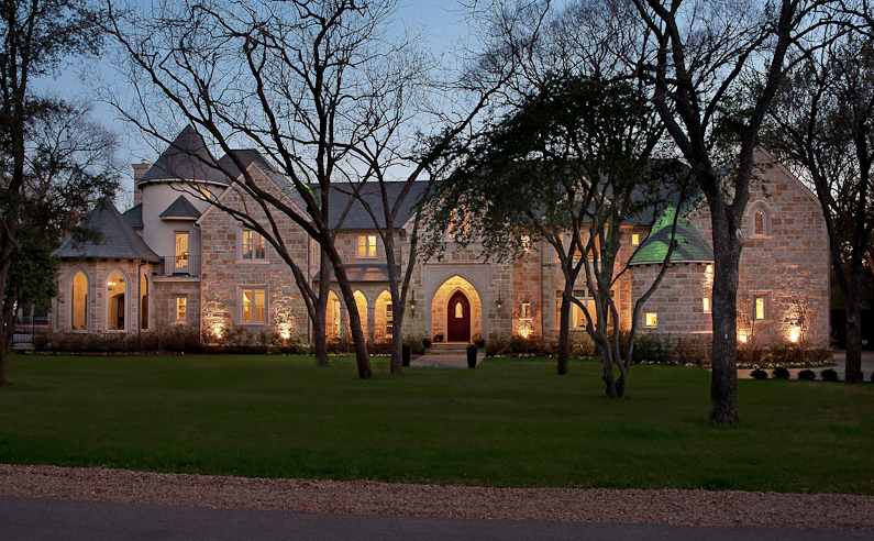 Completely reconstructed stone mansion in dallas tx for Mansions in dallas tx