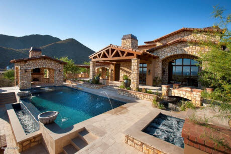 Newly Built Spanish Hacienda In Scottsdale Az Homes Of