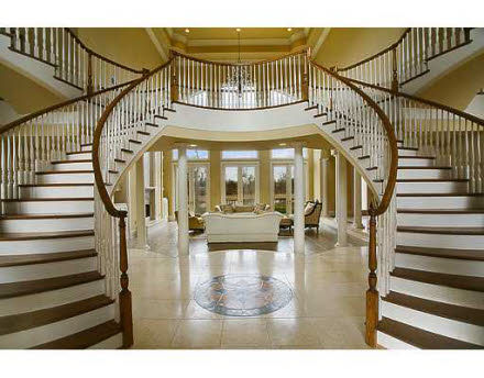 Beautiful Double Staircase In Ca