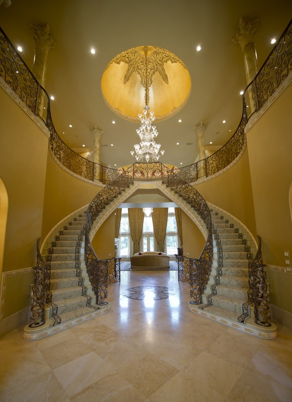 Double staircases on pinterest staircases luxury for Luxury staircases