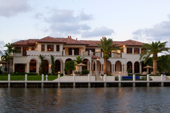 Gated waterfront mediterranean in boca raton florida for Celebrity homes in florida