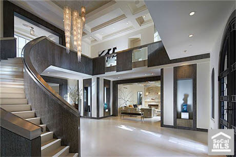 chic modern mansion in newport coast ca homes of the rich - Modern Mansions Interior
