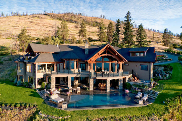 16 Acre Lakefront Estate In Kelowna Bc on Double Story House Plans