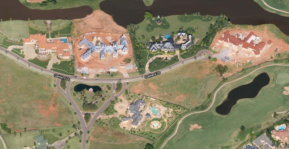 Cluster Of Massive Mansions In Oklahoma City Ok Homes