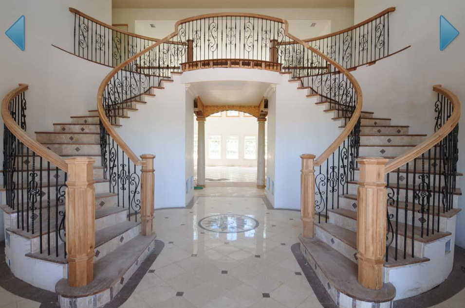 Beautiful Double Staircase In Ga Work In Progress
