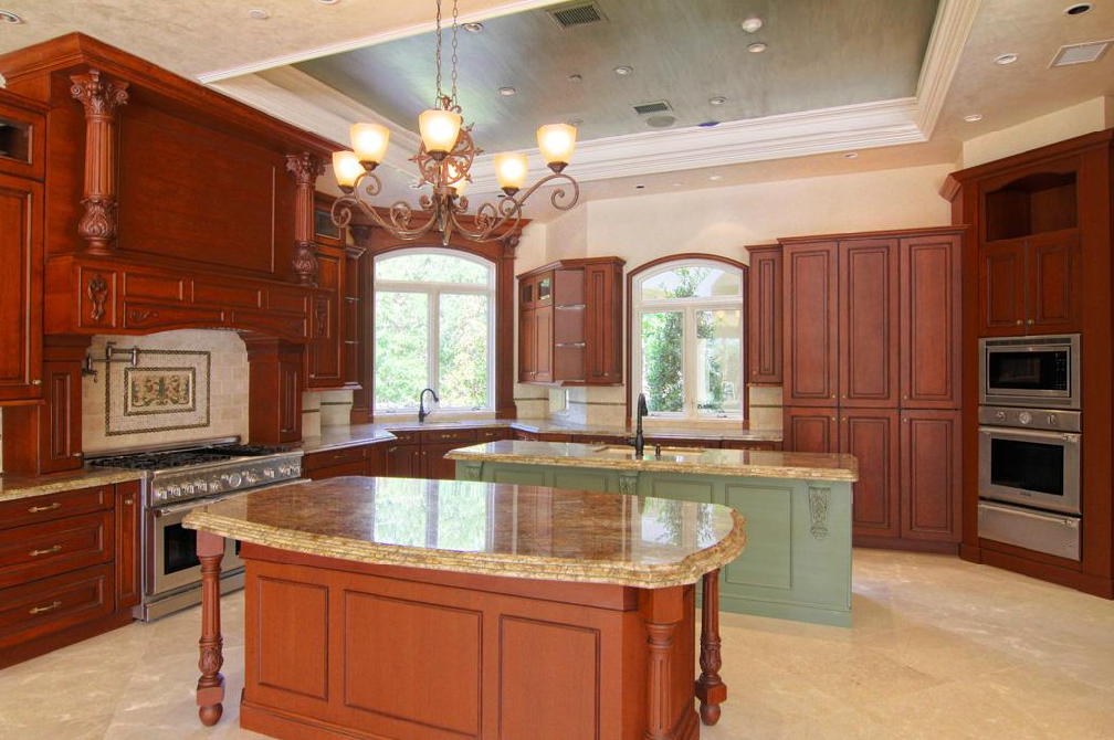 Lavish 11 735 square foot mediterranean in houston tx for Kitchen design 77070