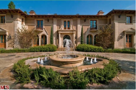 Newly listed 40 million beverly hills mansion los for Hollywood mansion for sale
