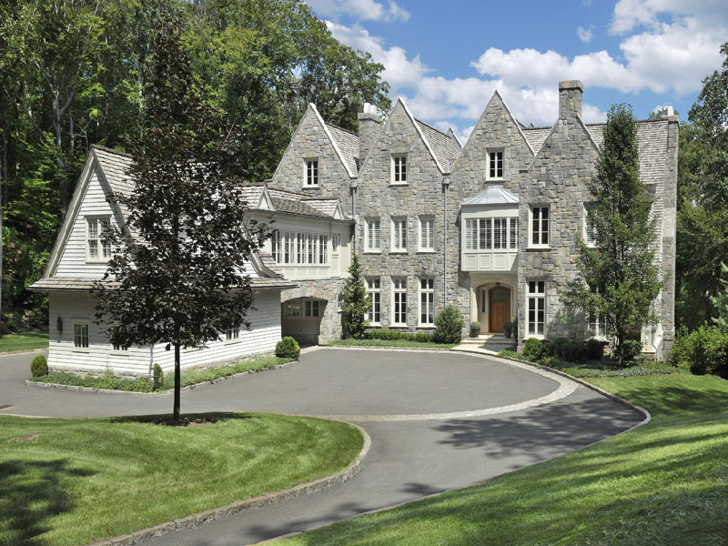 Lakefront English Stone Manor Home In Greenwich Ct