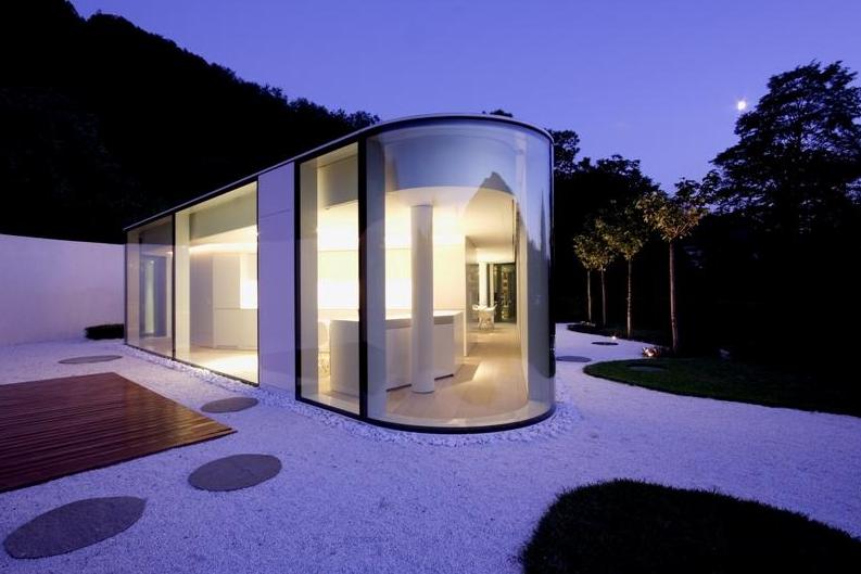 Unique Glass Pavilion Villa In Switzerland