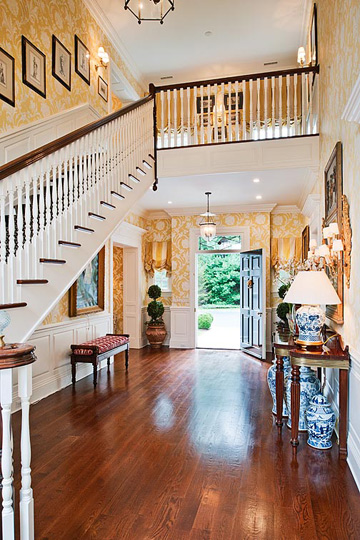 Colonial Home Foyer : Square foot georgian colonial in greenwich ct