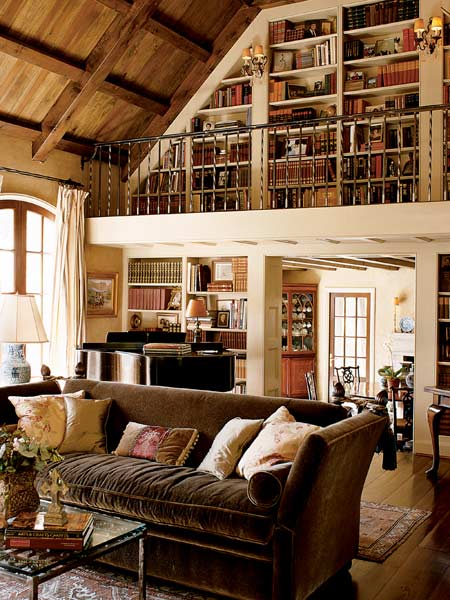 Living Room Library Design Ideas: A Look At Some 2-Story Home Libraries