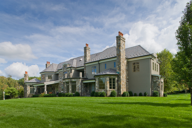 Stone & Shingle French Country Estate In Bedford Corners, NY