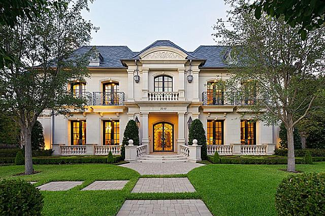 12 000 square foot french inspired home in highland park French style homes