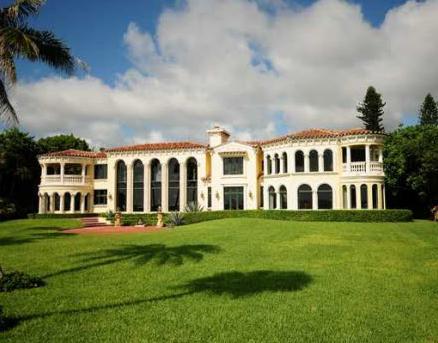 Mizner-Inspired Mediterranean Waterfront Mansion In Hobe Sound, FL