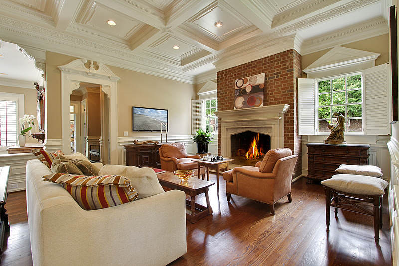 Gorgeous 23 000 square foot brick mansion in roswell ga for 10 foot living room