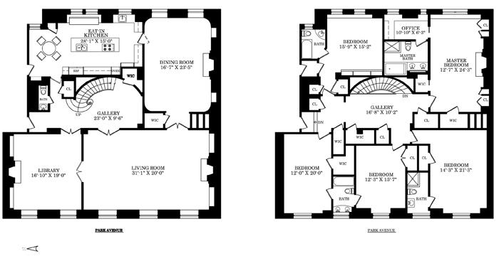 Newly Listed $23 Million Park Avenue Candela Duplex