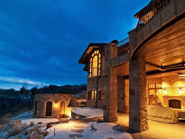 12,000 Square Foot Stone Mansion In Park City, UT