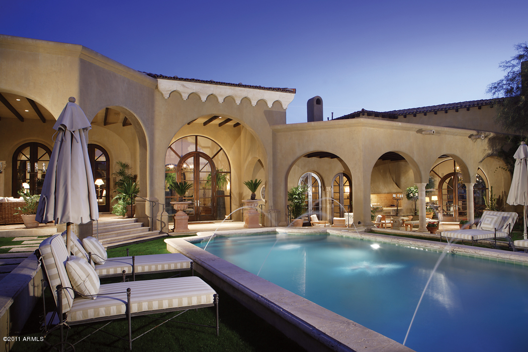 Santa Barbara Tuscan Inspired Mansion In Scottsdale Az