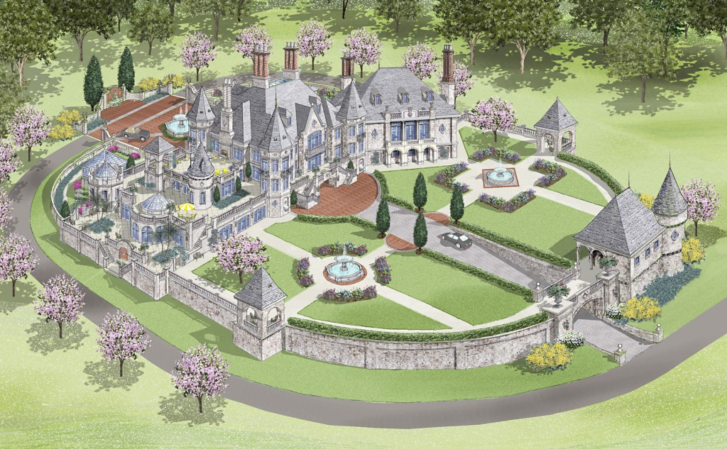 D alessio inspired architectural designs homes of the for Castle style house plans
