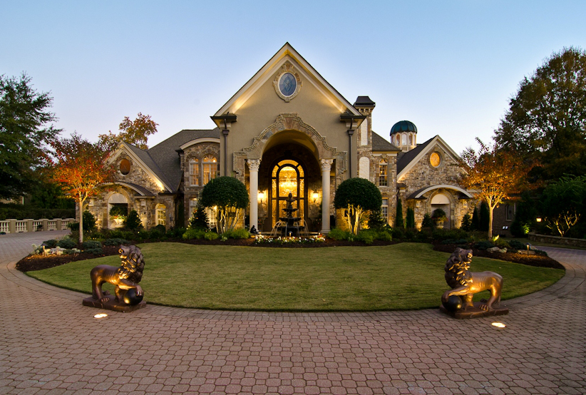 13 000 square foot european style mansion in johns creek for Beautiful million dollar homes