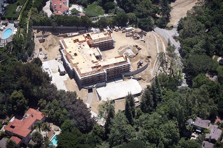 60,000 Square Foot Super Mansion Under Construction In Bel Air, CA