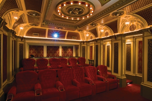 Indianapolis Home Theater With Box Office Lobby