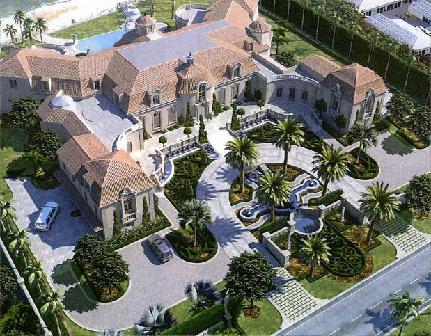 Pennsylvania couple building 20 000 square foot palm beach for House plans over 20000 square feet