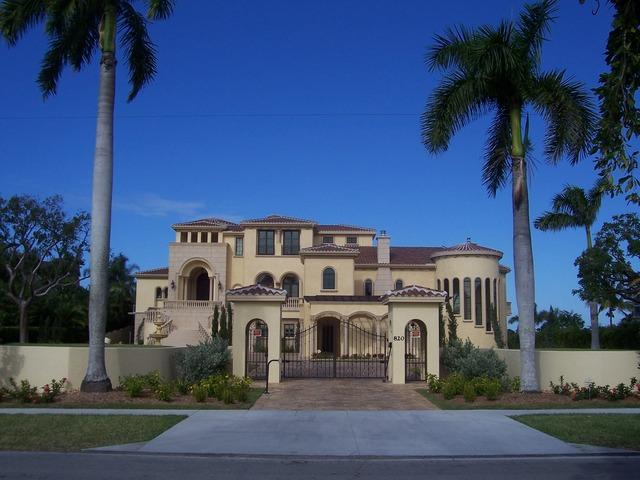 Marco Island Mediterranean Mansion With 17 Car Garage