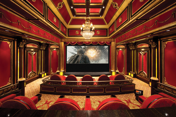 More pics of lavish home theaters homes of the rich for Luxury theatre