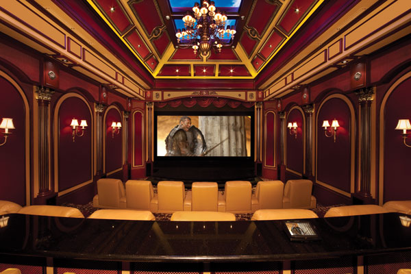 Lavish 2 Story Home Theater In The Cayman Islands Homes