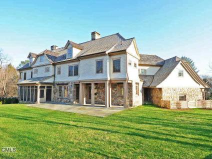 English Stone Manor New Build In Westport, CT