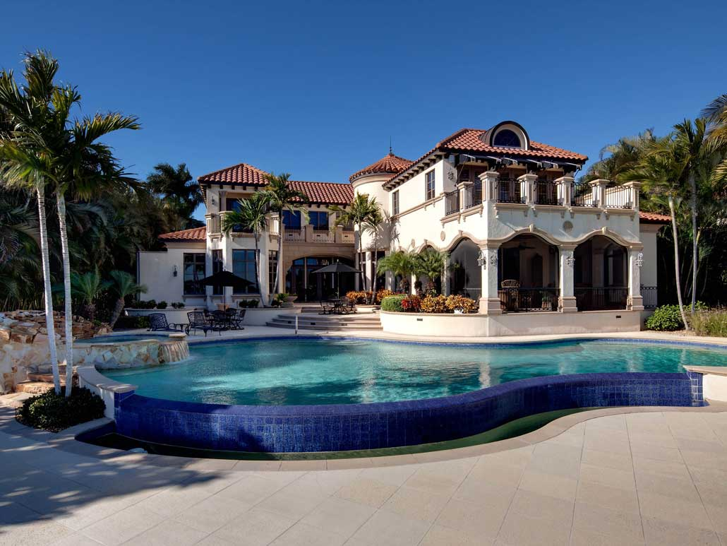14 000 square foot naples mansion with magnificent gated for Exclusive house