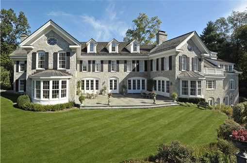 Georgian Colonial Mansion $13 million georgian colonial in greenwich, ct | homes of the rich