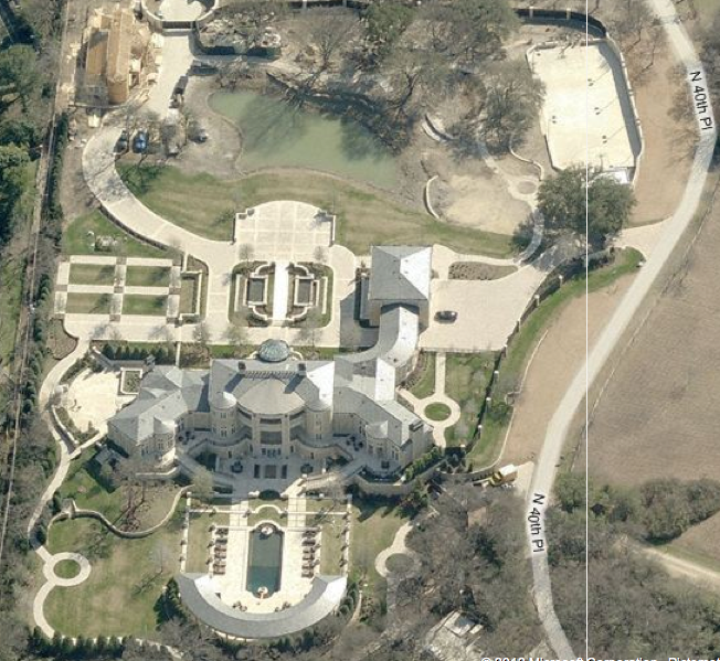 Updated Aerial Pics Of Newly Built Dallas Mega Mansion