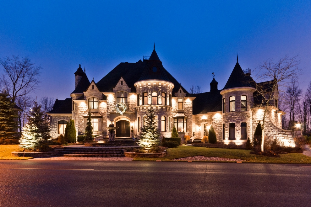 Million castle inspired home in quebec canada Castle home