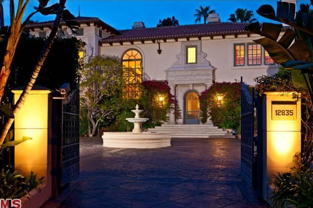 10 5 Million Tuscan Mansion In The Brentwood Area Of Los