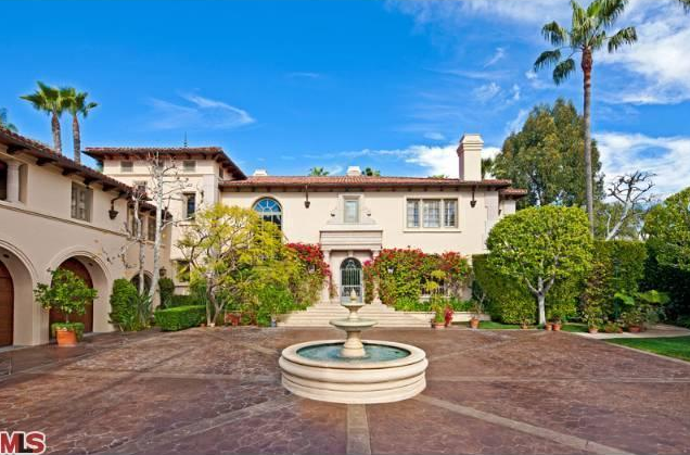 10 5 million tuscan mansion in the brentwood area of los for Rich homes in california