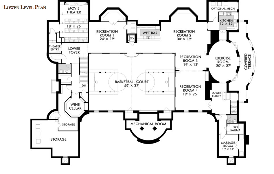 Floorplans homes of the rich for Mansion floor plans with ballroom