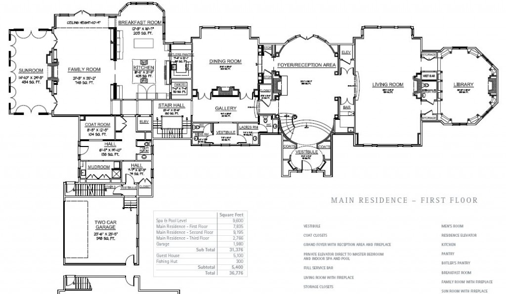Floorplans hotr for Mega mansion floor plans