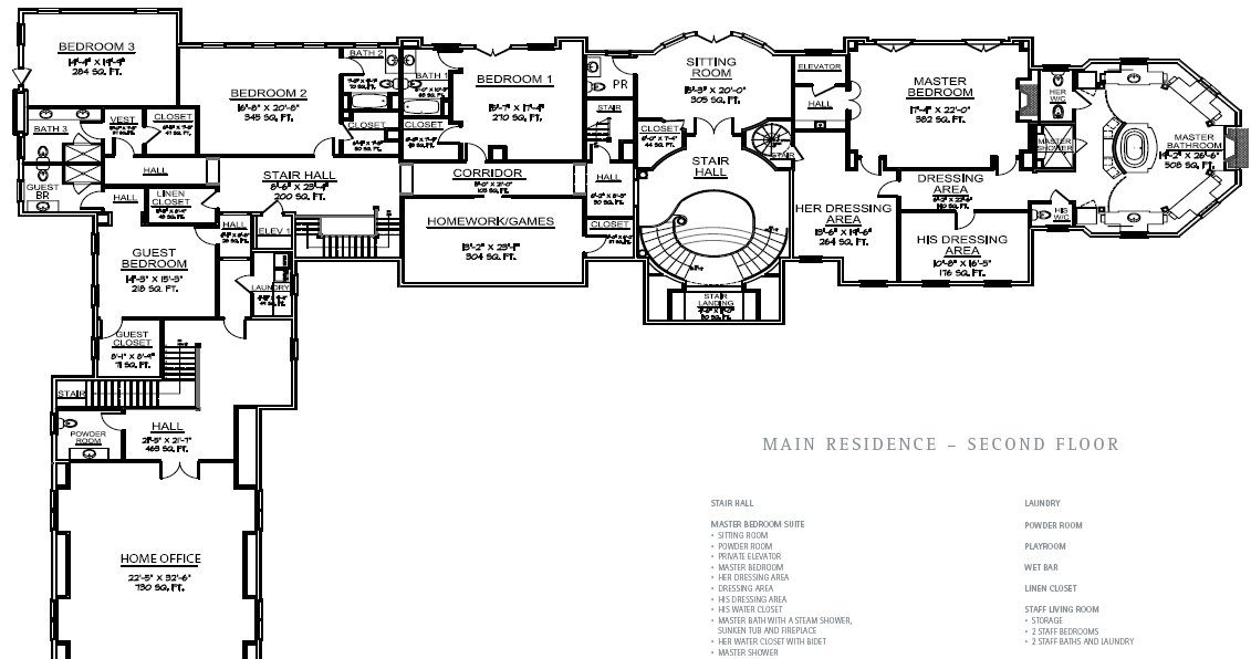 Floorplans homes of the rich for Lake floor plans