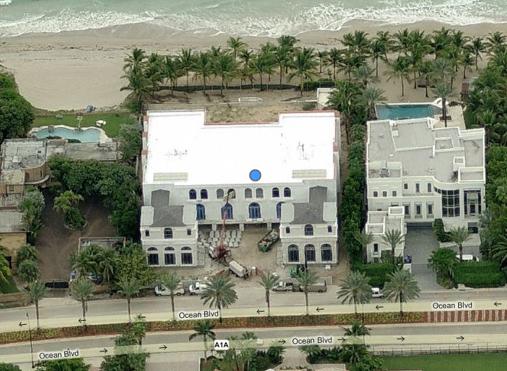 The white palace a newly built 25 000 square foot mega for Mega mansions in florida