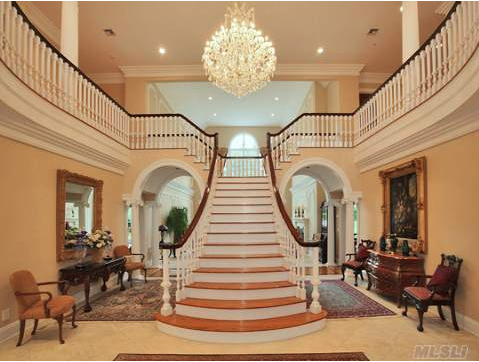 A collection of y shaped staircases homes of the rich for Luxury staircase