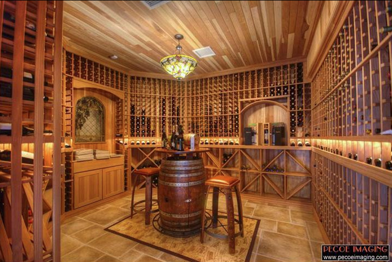A collection of lavish wine cellars from homes of the rich for Luxury home wine cellars