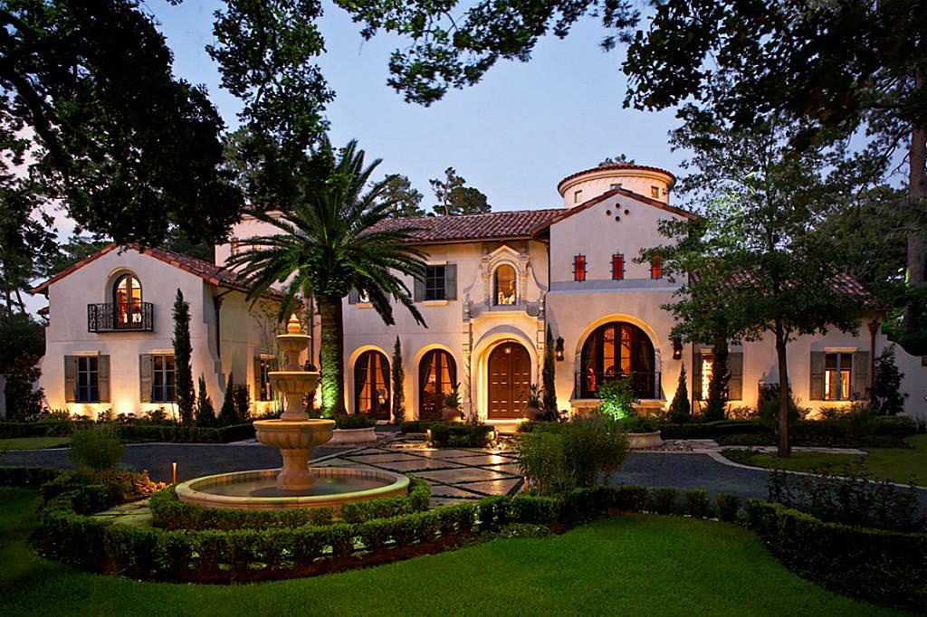 Million gated mediterranean mansion in houston tx Houston home design