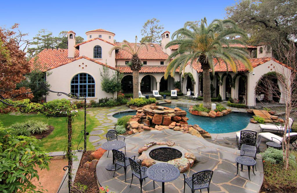 Million gated mediterranean mansion in houston tx Mediterranean style homes houston