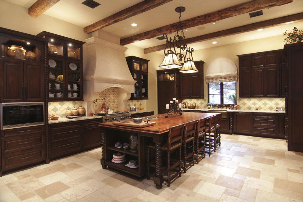 Million gated mediterranean mansion in houston tx for Texas kitchen designs